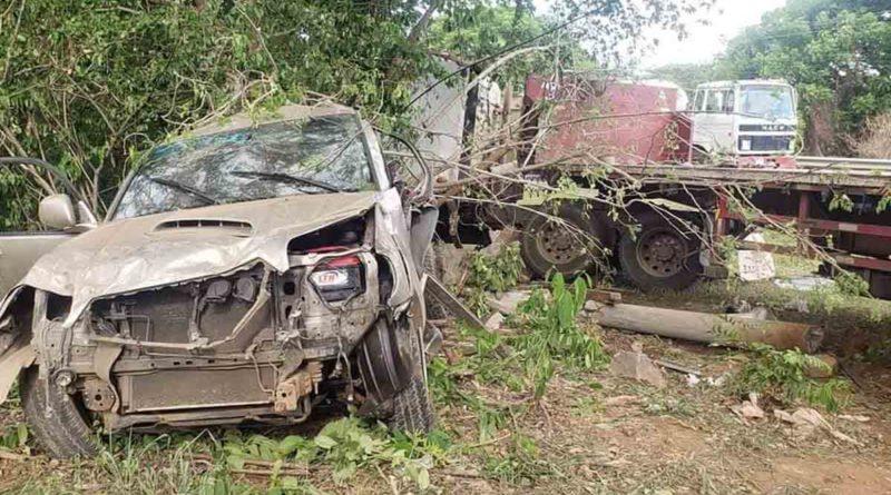 Vehículos involucrados en el accidente de tránsito ocurrido en Mateare