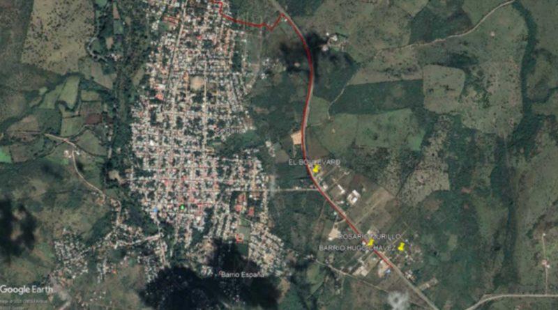 Área de incidencia del proyecto de agua potable en Ciudad Darío