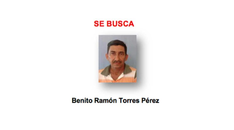 Policía Nacional continúa la búsqueda y captura del delincuente Benito Ramón Torres Pérez, autor de muerte homicida (femicidio), cometida en reparto Las Mercedes, León.