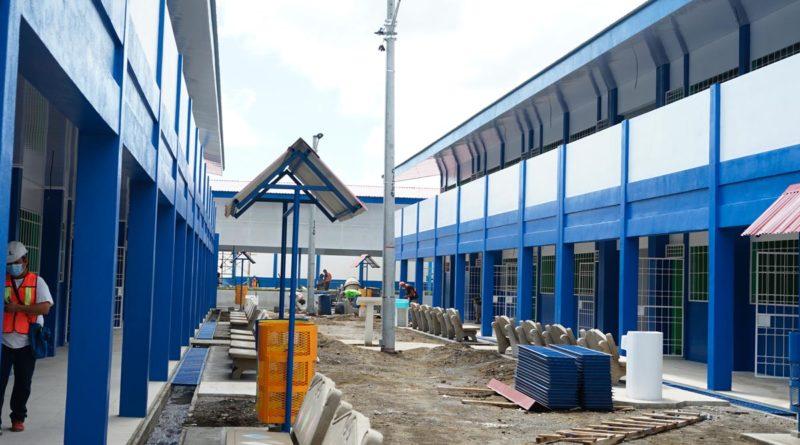 Instalaciones del Centro Educativo Cristóbal Rugama de Masaya durante la remodelación