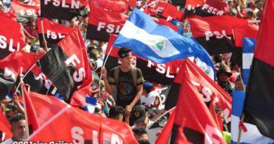 Celebración del triunfo de la Revolución Sandinista en la Plaza de la Fe