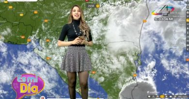 Crismara Mendoza brindando el reporte del clima en Nicaragua: Este martes habrá lluvias por la tarde en gran parte del país
