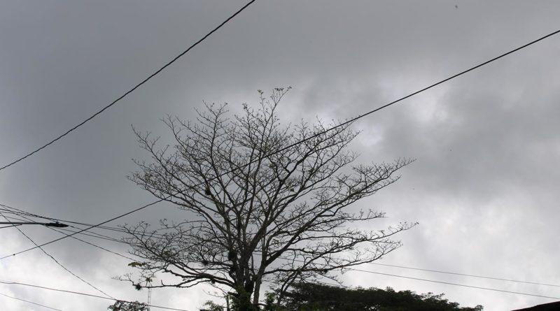 Cielo nublado de la ciudad de Masaya con altas probabilidades de lluvias por la tarde e inicio de la noche.