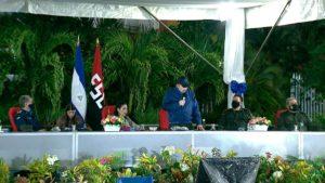 Presidente Comandante Daniel Ortega en el acto del 42 Aniversario de la Fuerza Aérea del Ejército de Nicaragua