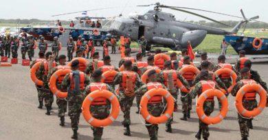 Ejército de Nicaragua durante el acto de entrega de los nuevos medios y equipos