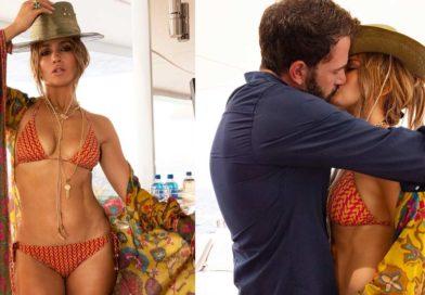 Jennifer López y Ben Affleck en localidad francesa de Saint-Tropez.
