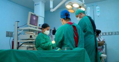 Paciente intervenido en jornada quirúrgica en el Hospital Manolo Morales.