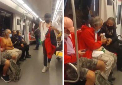 Joven regala la ropa que traía a una persona sin hogar con frío