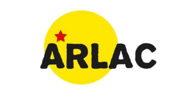 Logo de la Asociación Solidaria de Refugiados de América Latina y el Caribe en Bélgica (ARLAC) que condenan agresiones de Estados Unidos en contra de Nicaragua.