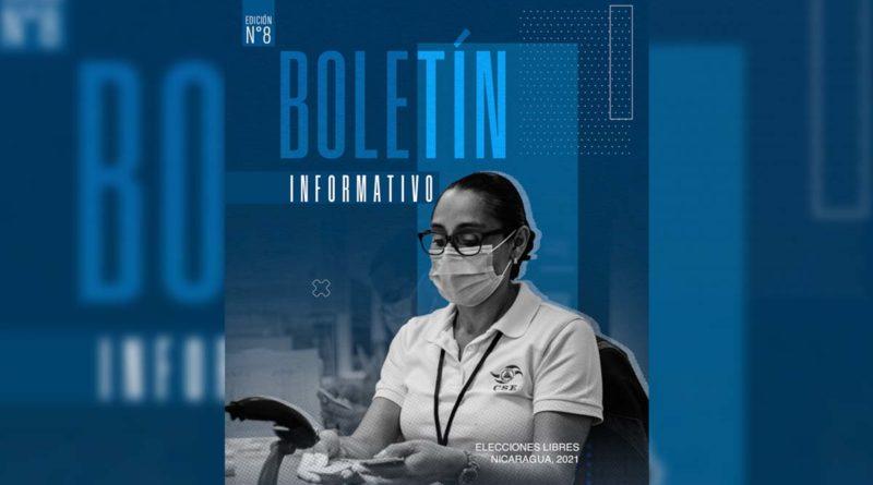Octavo Boletín Informativo Elecciones Libres Nicaragua 2021