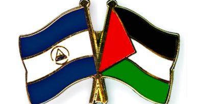 Bandera de Palestina y Nicaragua