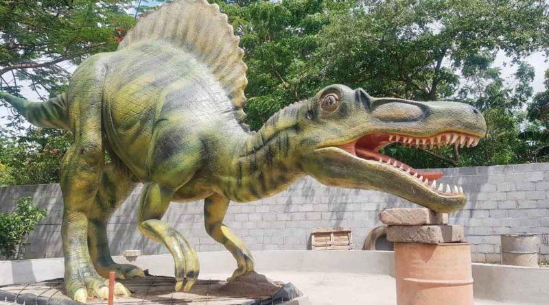 Uno de los dinosaurios que estará en la segunda etapa del Parque Saurio en Nindirí