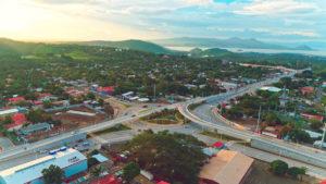 Vista aérea del Puente Desnivel las Piedrecitas, construido por el Gobierno Sandinista
