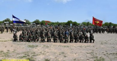 Efectivos del Ejército de Nicaragua en preparación combativa del año 2021