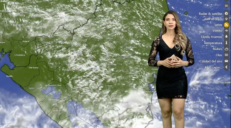 Crismara Mendoza brindado el reporte del clima en Nicaragua este jueves en Es Mi Día.