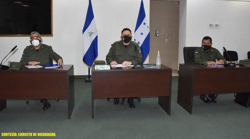 Ejército de Nicaragua sostiene reunión con jefe del Estado Mayor de las Fuerzas Armadas de Honduras