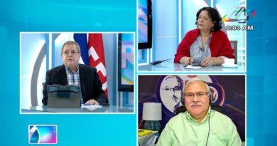Adolfo Pastran, Eliezer Mora y Tirsa Sáenz en la Revista en Vivo, martes 27 de julio de 2021