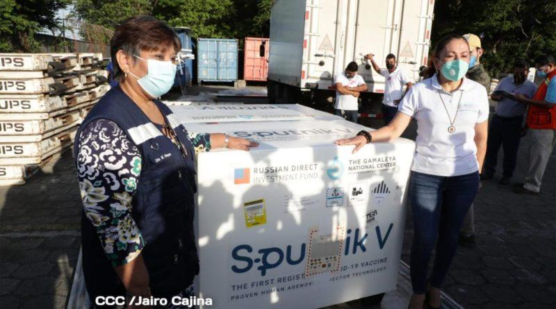 Nuevo lotes de Vacuna Sputnik V llega a Nicaragua