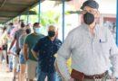 Nicaragüenses durante la jornada de verificación ciudadana convocada por el Consejo Supremo Electoral