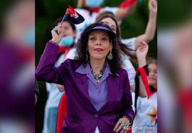 Vicepresidenta de Nicaragua, Rosario Murillo durante el 42 Aniversario de la Revolución Popular Sandinista, 19 de Julio del 2021