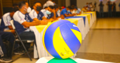 Balón de voleibol durante la inauguración del Torneo de Voleibol Masculino 2021.
