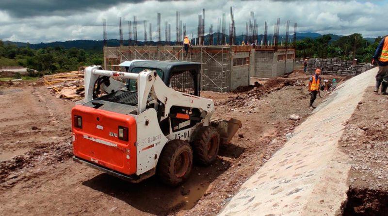 Obras en el nuevo Centro Tecnológico Marcos Homero Guatemala, ubicado en Asturias, departamento de Jinotega