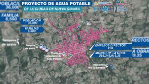 Mapa de incidencia de Proyecto de Agua Potable en Nueva Guinea.