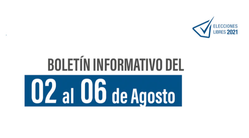"""Boletín Informativo semanal No. 13 """"Elecciones Libres 2021"""""""