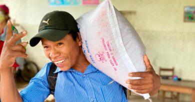 Productores de Pancasán, Matagalpa recibiendo bonos productivos y tecnológicos por parte del INTA