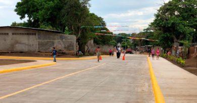 Calles recién inauguradas en el Barrio Óscar Turcios de Managua