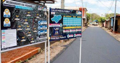 Mejoramiento vial realizado por la Alcaldía de Managua en el barrio Héroes y Mártires de Batahola