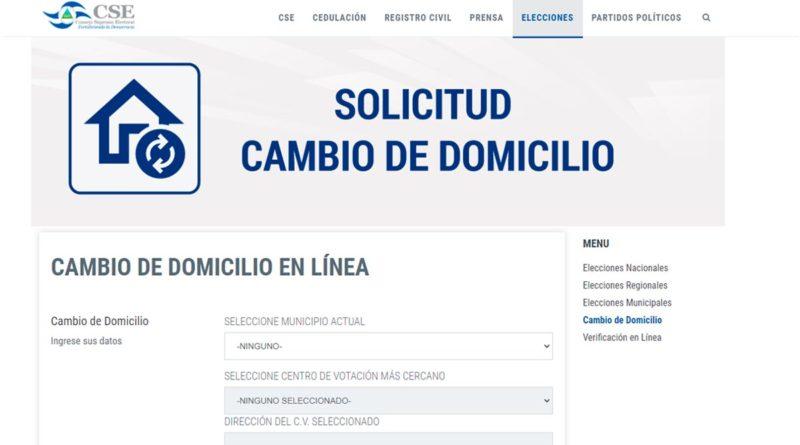 CSE habilita nuevo servicio para Cambios de Domicilio en Línea