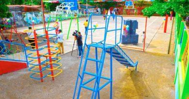 Cancha completamente rehabilitada por la Alcaldía de Managua en el barrio Benedicto Valverde