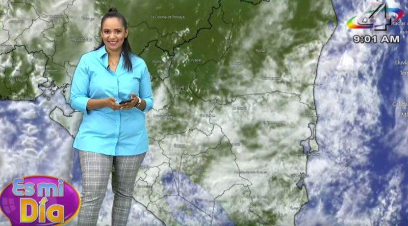 Foto Multinoticias / Kenia Ruiz en el programa Es Mi Día brindó el reporte del clima en Nicaragua