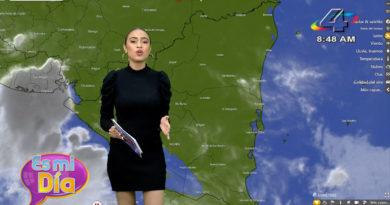 Mabel Canales en el programa Es Mi Día brindó el reporte del clima en Nicaragua