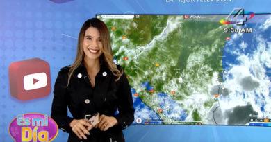 Foto Multinoticias / Crismara Mendoza en el programa Es Mi Día brindó el reporte del clima en Nicaragua