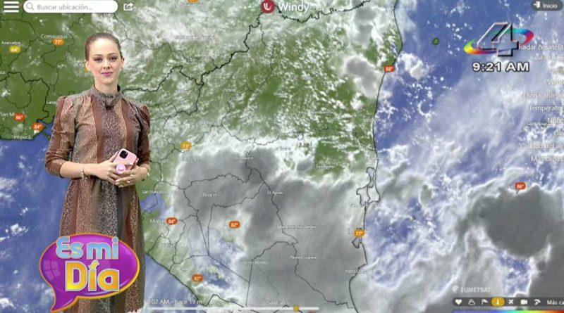 Lizandra Herrera en el programa Es Mi Día brindó el reporte del clima en Nicaragua