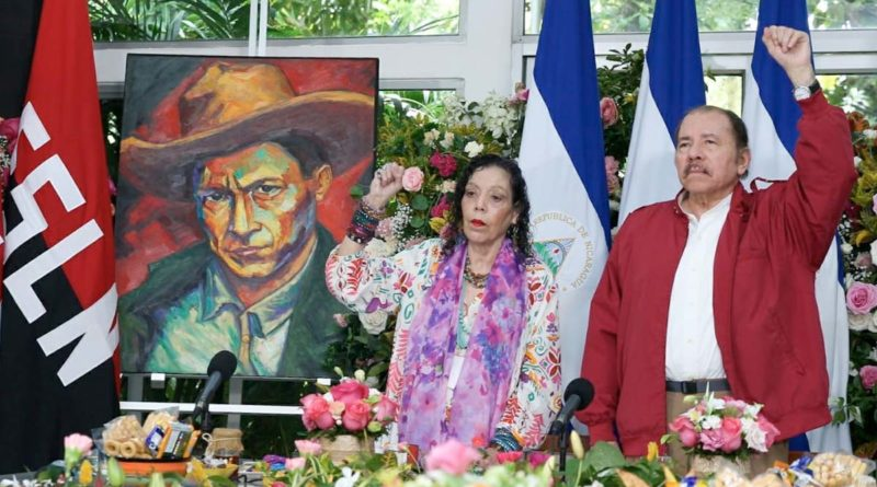 Presidente de la República de Nicaragua, Comandante Daniel Ortega Saavedra y Vicepresidenta de Nicaragua, Compañera Rosario Murillo