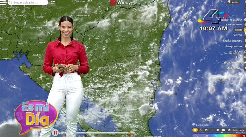 Crismara Mendoza en el programa Es Mi Día brindó el reporte del clima en Nicaragua.