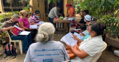 Estudiantes de Educación Técnica en el Campo durante la capacitación de Cultivo de Peces en Ticuantepe.
