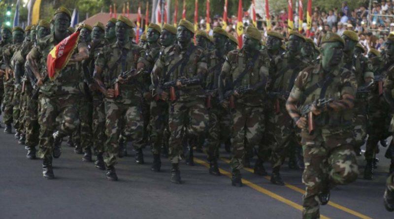 Ejército de Nicaragua durante uno de los desfiles realizados en Managua