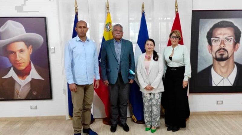 Diputado de la Asamblea Nacional de Venezuela visita la Embajada de Nicaragua