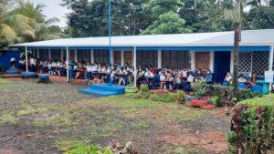 Escuela rehabilitada por el Ministerio de Educación en El Verdún, Nueva Guinea