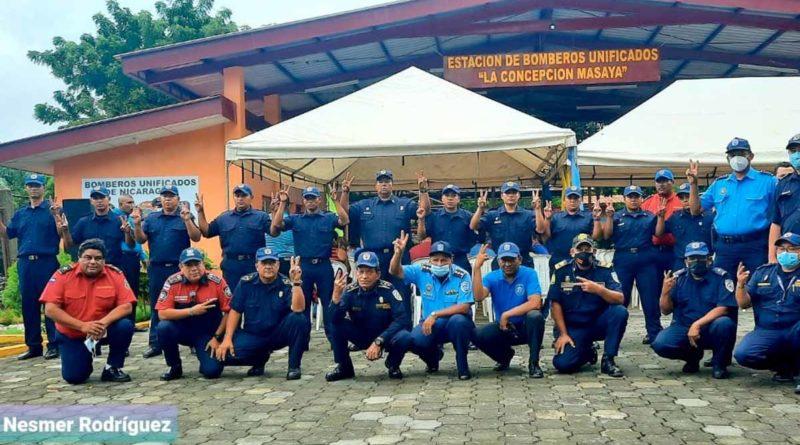Cuerpo de bomberos que brindará atención en la nueva estación de bomberos en La Concepción