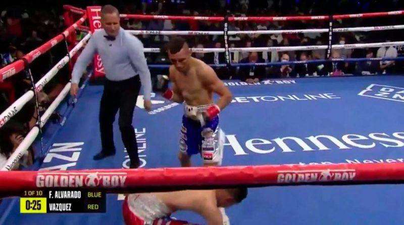Félix Alvarado noquea a Israel Vásquez en el primer round