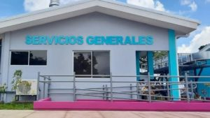 Vista frontal del nuevo Hospital Primario Francisco Martel Charrat en Quilalí
