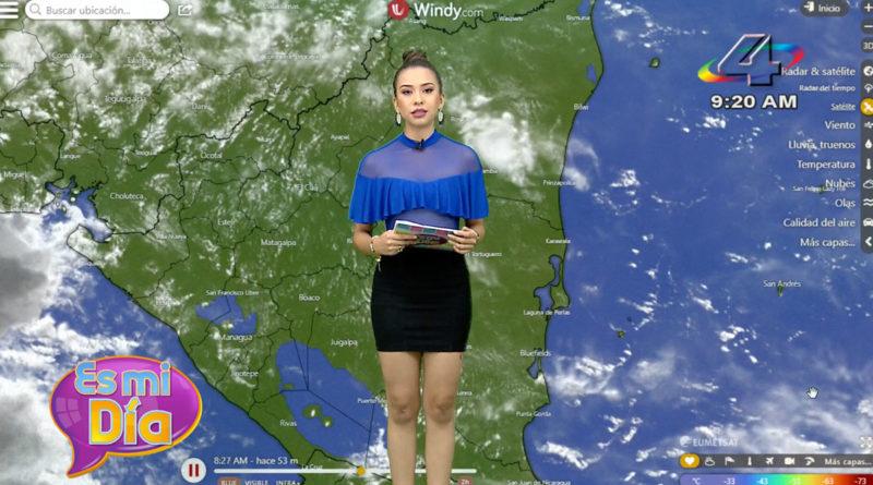 Idis Rodríguez en el programa Es Mi Día brindó el reporte del clima en Nicaragua.
