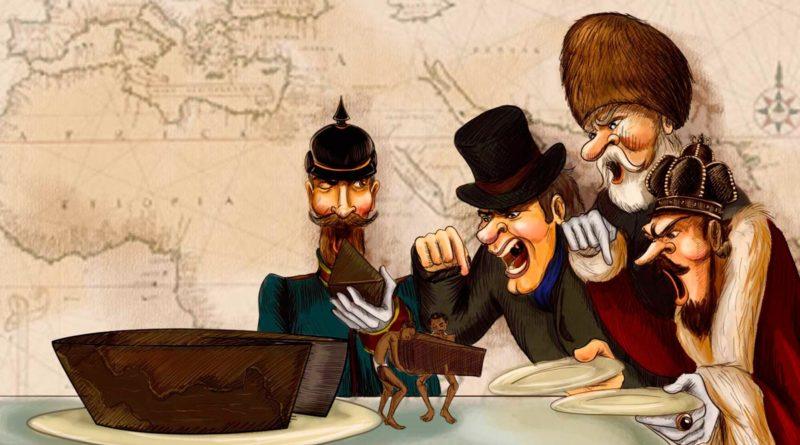 Tiranos europeos colonizadores extrayendo las riquezas de América