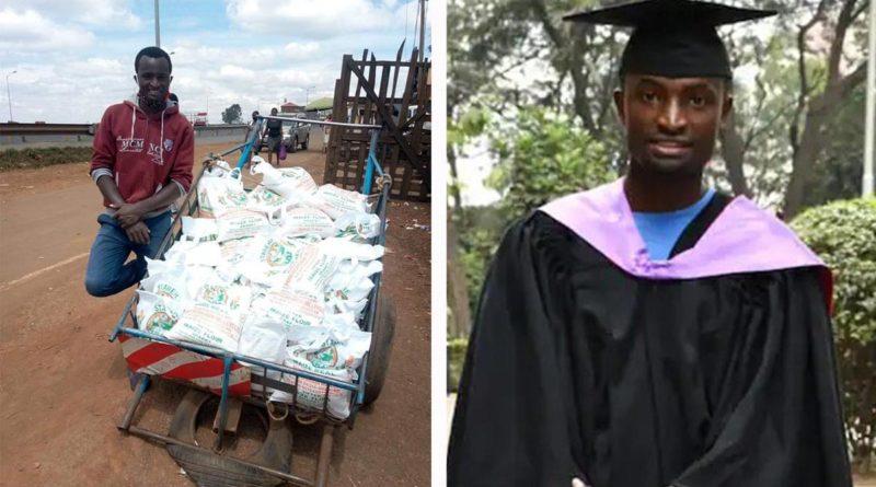 Joven paga sus estudios vendiendo agua y haciendo envíos en el mercado