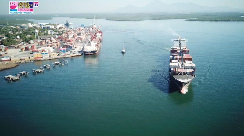 Vista aérea del Puerto de Corinto